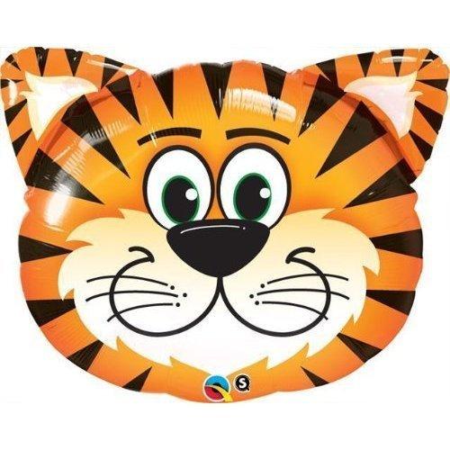 Qualatex 'chatouillé tigre 30Pallone piatto–Animali della giungla festa