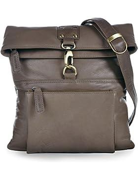 PHIL+SOPHIE, Cntmp, Damen Handtaschen, Umhängetaschen, Crossover-Bags, Crossbags, Schultertaschen, Leder, 26x27x2cm...