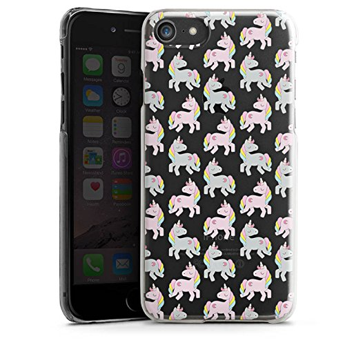 Apple iPhone X Silikon Hülle Case Schutzhülle Transparent mit Muster Einhorn Unicorn Hard Case transparent