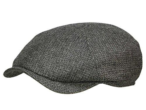 Wigens Newsboy Slim Cap Ballonmütze aus Wolle und Kaschmir - Anthrazit (95) - 59 cm