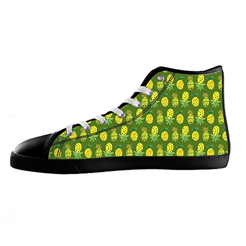 dalliy Ananas Cartoon Men's Canvas Shoes Chaussures Lace Up High Top pour Sneakers Toile Chaussures de chaussures de toile chaussures de sport C