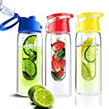 ALTG Fruit Infuser Water Bottle with Top...