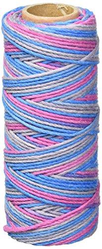 Hemptique Bobine de fil de chanvre Résistance moyenne 9 kg Dance Off Multicolore