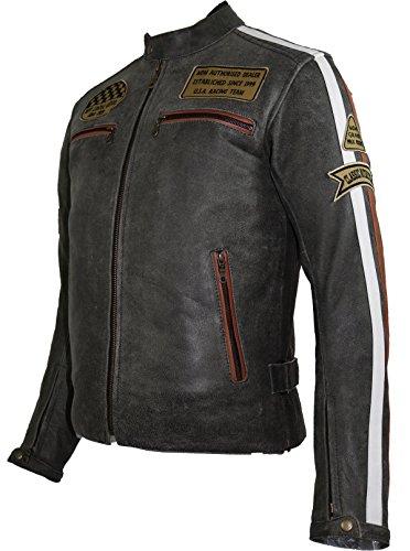 *Herren Retro Motorrad Lederjacke (XL)*