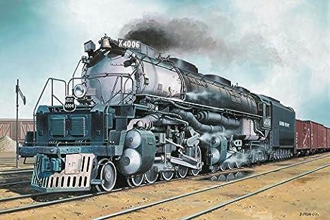 Revell Modellbausatz H0 Big Boy Lokomotive im Maßstab 1:87, Spur H0, Level 4, originalgetreue Nachbildung mit vielen Details, Dampflokomotive, Zug, Eisenbahn, Union Pacifik - 02165