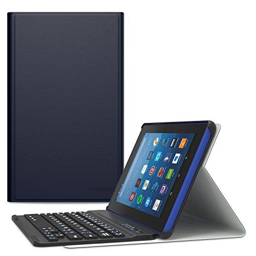 tastiera per tablet 8 pollici MoKo All-New Fire HD 8 2018 Case - Tastiera Bluetooth Senza fili (Versione Americana) Custodia per Nuovo Amazon Fire HD 8 (8 pollici Display