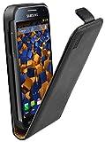 mumbi Etui à rabat en Cuir pour Samsung Galaxy S4 Mini Noir