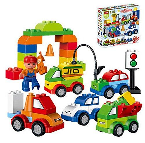 Wisdom Giocattoli educativi per bambini, le particelle più grandi assemblati Blocchi, treno auto assemblaggio Giocattoli (Blocchi Treno)