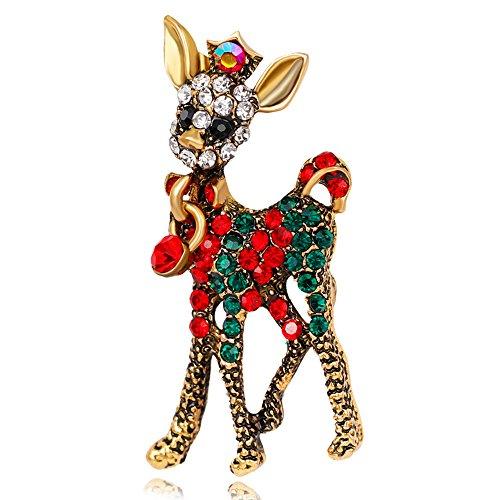 stall Weihnachten Brosche Xmas Geschenk für Weihnachtsschmuck Ornaments Geschenke (Fuchs Und Hund Halloween)