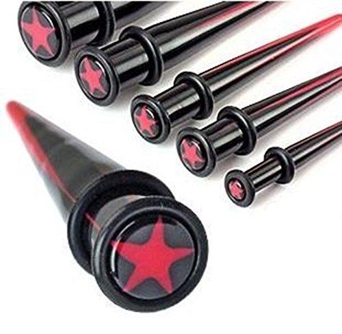 6-er-pack-uv-acryl-tapers-erweiterungspack-schwarz-und-rot-mit-sternen-und-o-ringen-uk-grossen-00-0-
