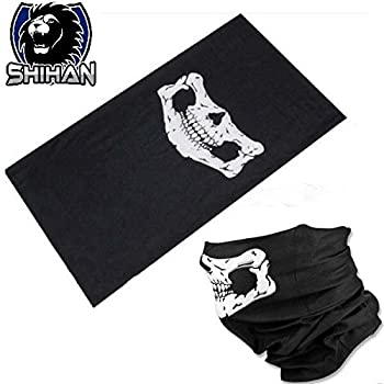 Hskull Bandana Bike Motorcycle Helmet Neck'skull' Face Mask Paintball Ski Sport Headband Face Bandana Skeleton Ski Motorcycle Biker Paintball Mask Scarf 1