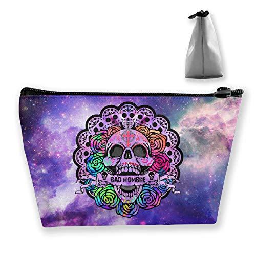 (Mexikanischer Zucker-Schädel-Regenbogen Rose Prefessional Reise-Make-upbeutel-kosmetischer Organisator Portable)