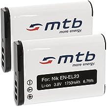 2x Baterías EN-EL23 para Nikon Coolpix B700, P600, P610, P900, S810c