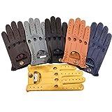 Prime Leder Top Qualität Weiches Echtleder Herren ohne Futter Fahrhandschuhe Retro Handschuh in zehn schöne Farben 507 - 507-light braun, L