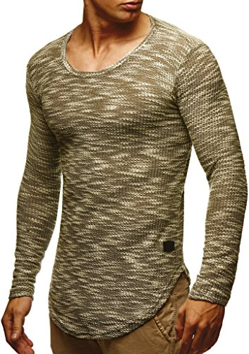 Leif nelson sweater-khaki medium