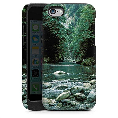Apple iPhone 4 Housse Étui Silicone Coque Protection Fleuve Forêt Cours du fleuve Cas Tough brillant