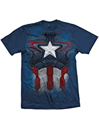 Marvel Official T Shirt The Avengers Captain America Chest Print All Sizes