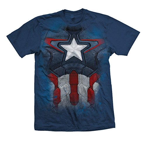 Marvel Official T Shirt The Avengers Captain America Chest Print