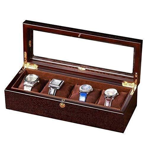 Sunny Einfache Herrenuhr Box, Holz Aufbewahrungsbox Aufbewahrungsbox Herrenschmuck Uhrenserie Display Und Glasdeckel Aufbewahrungsbox (Holz Herrenuhr-boxen)