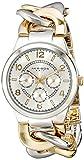 Akribos XXIV Damen Bicolor Uhr mit Ultimate Twist Kette Armband