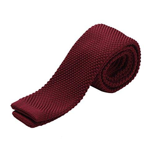Cravatta DonDon Uomo fatta a maglia 5 cm rosso scuro