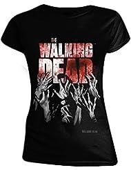 The Walking Dead - Hands Blood Splatter Femme T-Shirt - Noir