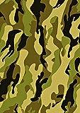 1x A4Gedruckt Grün Army Camouflage Tapete, Decor Zuckerguss Blatt essbar Cake Topper verziert Blatt–Ideal für große Kuchen
