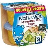 Nestlé naturnes courgettes riz dinde 2 x 200g dès 8 mois - ( Prix Unitaire ) - Envoi Rapide Et Soignée