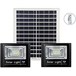 Uno para Dos Focos Solares, Exterior Impermeable Uno para Dos Alumbrado Público De Iluminación Super Brillante De Alta Potencia para Interiores, Luces De Jardín, 100W,60W