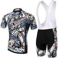 QlQ Jersey para Hombres Transpirable y de Secado rápido Que Absorbe la Humedad y se extiende en un Traje de Bicicleta