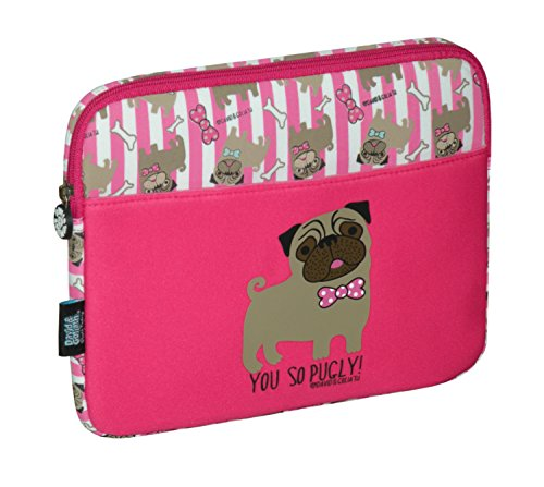 David & Goliath Tablet Sleeve You So Pugly Rosa Fuchsia Back to School (David-goliath-taschen)