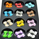 1-Kleancolor-3-D-Nail-Art-Decoration-Bow-Tique-Tie-Rhinestone-Professional-Na240-+-Free-Earring