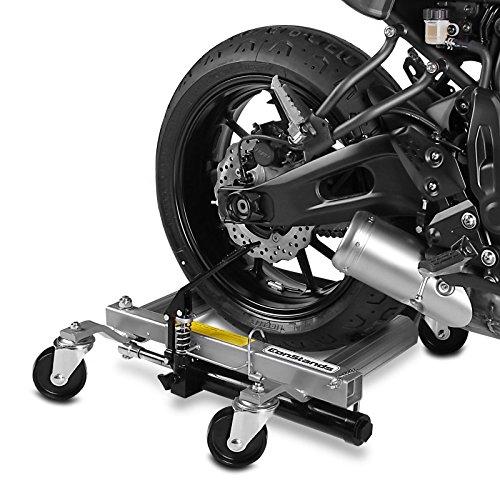 ConStands Motomover Heavy Duty - Motorrad Rangierhilfe für Harley Davidson Heritage Softail Classic (FLSTC) Rangierwagen Montageständer Hinterradheber