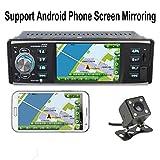 PolarLander Autoradio 4 Zoll HD Stereo Bluetooth MP5 Player Bildschirm Spiegelung für Android Phone 1 Din USB/SD/FM mit Rückfahrkamera
