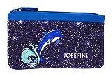 Mäppchen mit Delfinen I Schlampermäppchen in Glitzeroptik personalisiert mit Namen