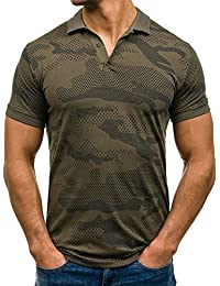 BOLF – T-shirt Polo à manches courtes avec impression Slim fit Party Motif Homme [3C3]