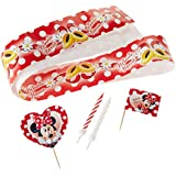 Amscan Disney Minnie Mouse Cake Decoration Kit, Red