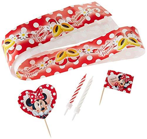 Maus Set zum Kuchendekorieren, rot (Rote Minnie Maus Ballons)