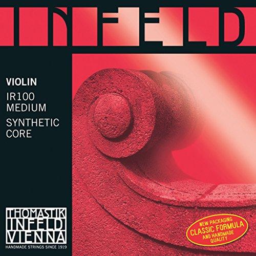 Thomastik 633859 Saiten für Violine Infeld Hybridkern, Satz rot 4/4 Medium - Rot Violine Infeld E-saite
