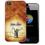 dessana Cocktail Rezepte Transparente Silikon TPU Schutzhülle 0,7mm Dünne Handy Tasche Soft Case für Apple iPhone 4/4S Cuba Libre