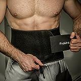 Frokht Neoprene Best Sweat and Slimming Belt for Men and Women, Medium (Black)