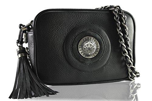 FERETI borse nero piccole con catena vera pelle FERETI®