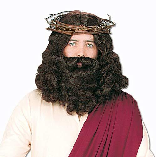 Horror-Shop Jesus Perücke mit Bart