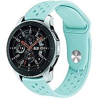 Quiet.T Correa de Repuesto para el Reloj Inteligente Samsung Galaxy Watch S4 46MM, Correa de Silicona con ventilación