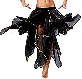 Bauchtanz Kostüm Schwarz Langer Rock Damen Halloween Zigeuner Kostüme