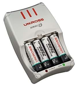 Uniross Sprint 90 Min Battery Charger Inc 4 X Aa 2500