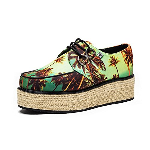 T.U.K. Shoes Women's Yo T.U.K. Sunset Print Jute Creeper Wraps Multi Colour