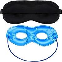 flabor Schlafmasken Seide Kühlend Augenmaske Wärmend Gelmaske Einstellbar 3D Abdecken Augenbinde Wellnessmaske... preisvergleich bei billige-tabletten.eu