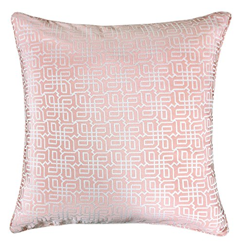 Homey Cozy Jacquard Plaid Überwurf Kissen, silber Geometrische, Polyester-Mischgewebe, rose pink, 50,8 x 50,8 cm Top 10 Skin Fällen