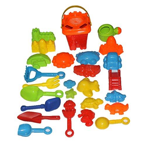Sandspielzeug set/Strand Eimer Spielzeug,Indoor und Outdoor Sandspielzeug für Kinder(28Pcs)